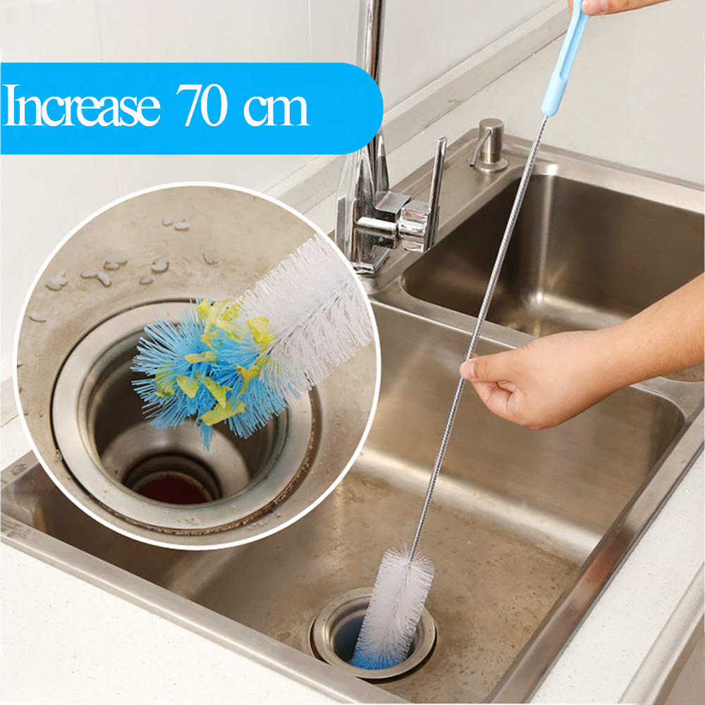 Creative Flexible Sewer Pipe Tube Cleaning Brush Sink Tub Toilet Pipe Cleaner Snake Brush Bathroom Kitchen Cleaning Tools(China (Mainland))