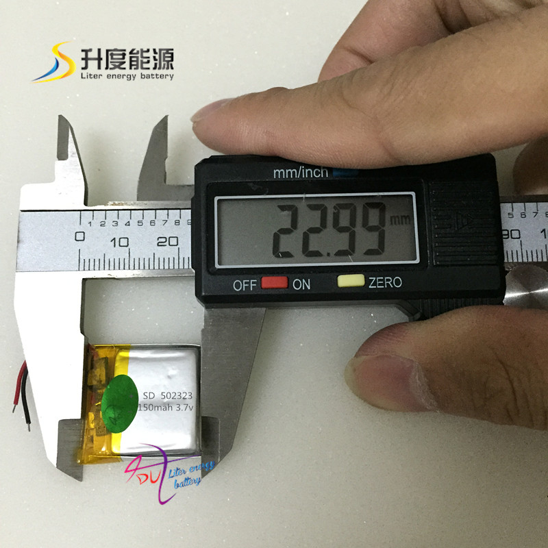 SD 502323 Small battery Lipo battery 3.7v 150mAh lithium polymer battery 502323 for Smart devices,bluetooth speaker, smart watch(China (Mainland))