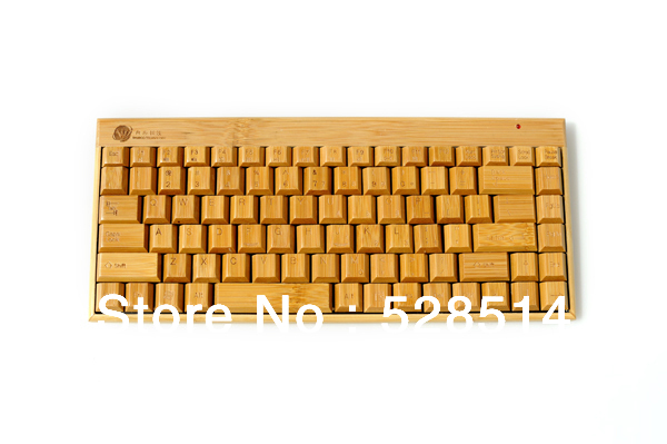 New Green High quality Bamboo keyboard KG101-N 2.4g Wireless Keyboard Convenient and practical choice(China (Mainland))