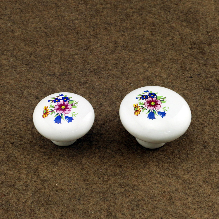 38mm ceramic kichen cabinet drawer knob handle white porcelain dresser cupboard furniture door decorative handle pull