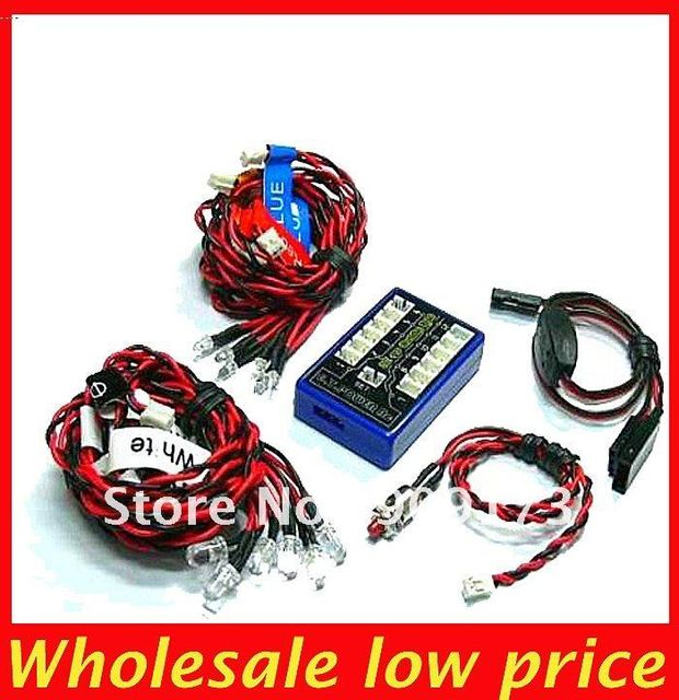 G.T.POWER Ultra Bright 12 LED Flashing Light System For R/c RC Car Remote Control Evader EXT2 Makita + free shipping