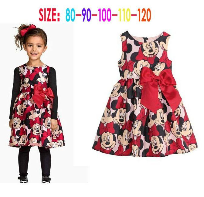 2015 new children's clothing Minnie Mouse children dress tutu princess dress kids baby girl dress(China (Mainland))