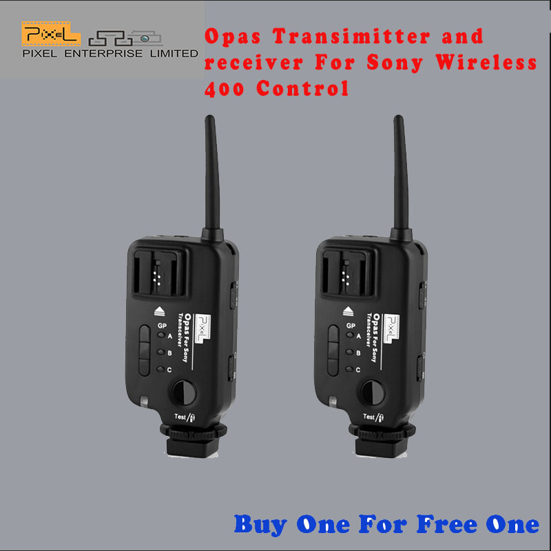 Pixel Opas Wireless Flash Trigger Transmitter And Receiver Speedlite Shutter Release For Sony PST10S Buy One For Free One(China (Mainland))