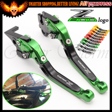 NEW (With Logo:Z800) Folding Extendable Adjustable CNC Aluminum Brakes Clutch Levers For Kawasaki Z800/E version 2013 2014 15 16(China (Mainland))