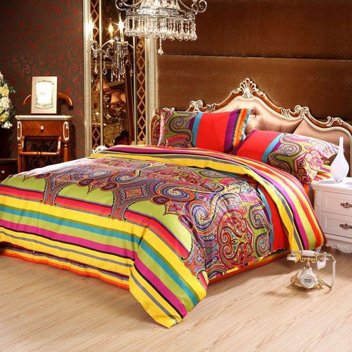 Wedding Bedsheet Egyptian Cotton Bedding Sets King Size