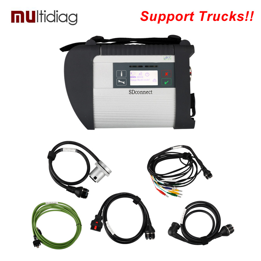 High Quality MB Star Diagnose SD Connect SD C4 Multiplexer with Cables For Mercedes Benz(Hong Kong)