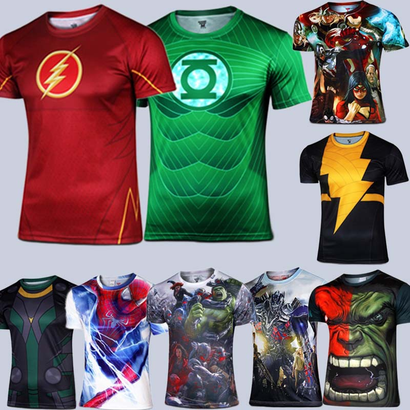 nouveau 2015 marvel superman am rique super hero maillot am ricaine t shirt homme usa costume de. Black Bedroom Furniture Sets. Home Design Ideas