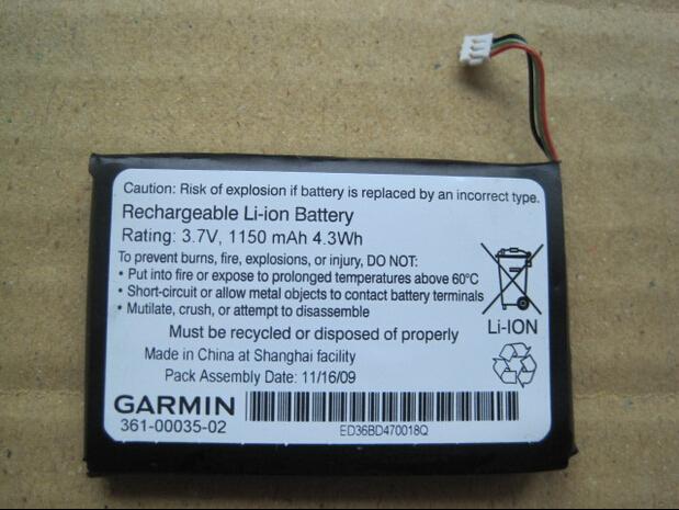 100% Original used Battery For GARMIN GPS 2300 2350 2360 2370 3.7V 1100mAh Batteries 361-00035-02/361-00035-00 Free Shipping(China (Mainland))