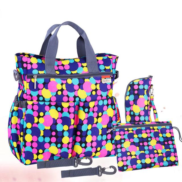 2016 новый разноцветные dot материнства мать подгузник коляски сумки многофункциональный ...