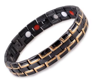 Нержавеющей стали отрицательный ион магнитный браслет здоровья черный для мужчин ...