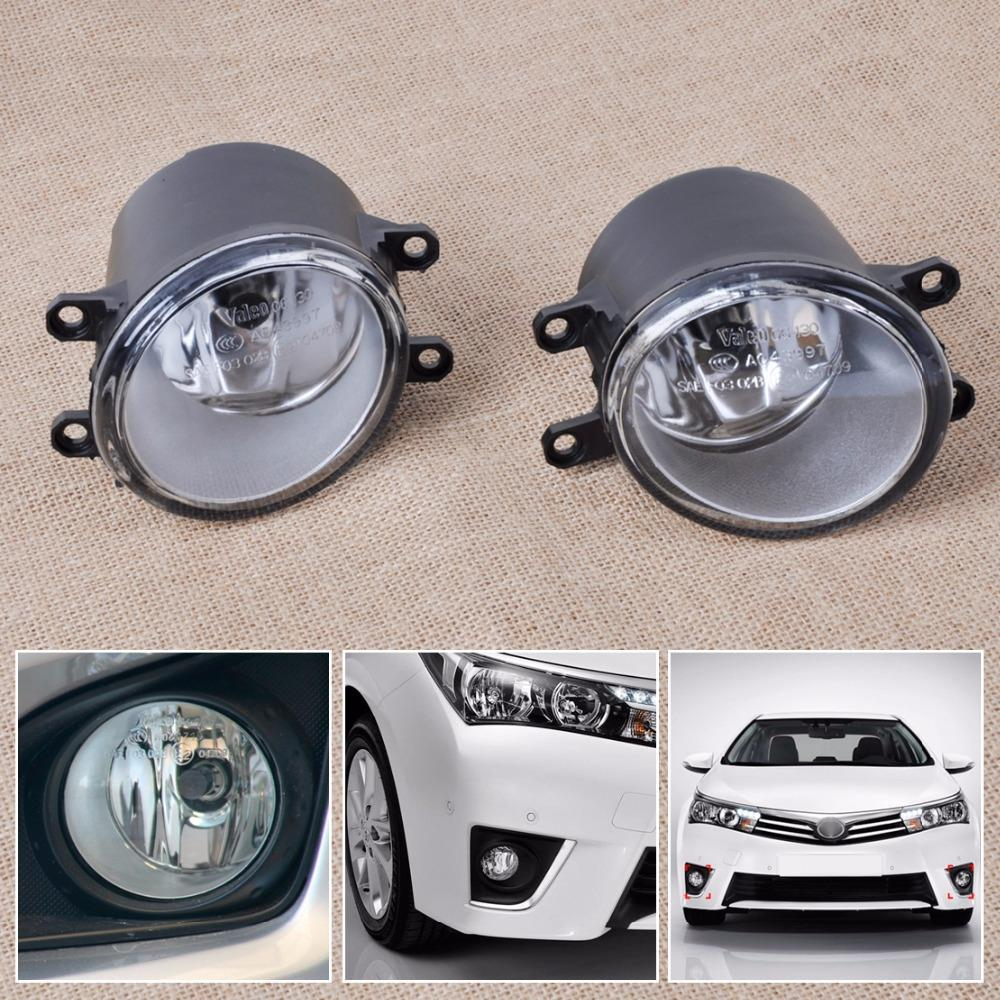 2pcs Fog light Lamp Left Right Set For Toyota Camry Corolla Yaris RAV4 Lexus GS350 GS450h