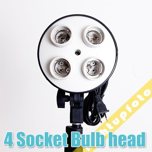 Inno hot selling Pro Photo Studio 4 x E27 Socket Lamp Head Light Bulb Holder studio