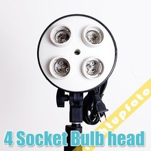 Inno hot selling Pro Photo Studio 4 x E27 Socket Lamp Head Light Bulb Holder  studio continuous lighting PSCSB2