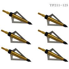 6 pcs bow and arrow archery broadhead arrowhead 2 81 arrow head 100grain recurve bow or