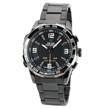 Weide WH-1009-BW doble pantalla LED Digital + Analog aguar resistente reloj de pulsera – negro ( 2 x SR626 )