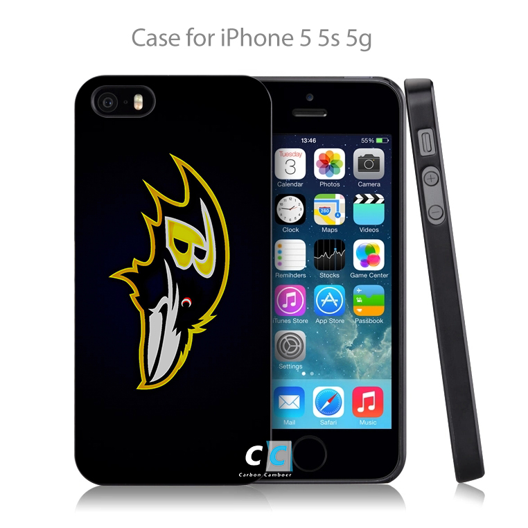 Baltimore ravens sports footbal Hard Black Case Cover Shell Coque for iPhone 4 4s 4g 5 5s 5g 5c 6 6g 6 Plus(China (Mainland))