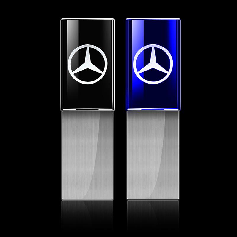 2017 New Hot! 4GB 8GB 16GB 32GB USB 2.0 Flash Memory Drive New Crystal Car Logo for BMW Mercedes USB Flash Drive(China (Mainland))