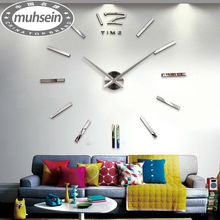 Free shipping fashion 3D big size wall clock mirror sticker DIY wall clocks home decoration wall clock meetting room wall clock