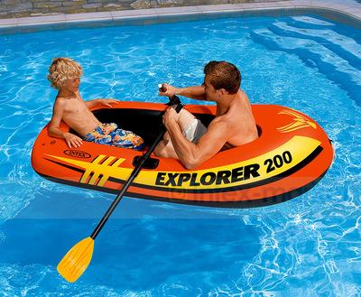 Inflatable Kayak Fishing Boat with Paddles Oars Swim Pool Funny Floats Toys Air Mattress Swimming LifeBoat Buoys Lifebuoys(China (Mainland))