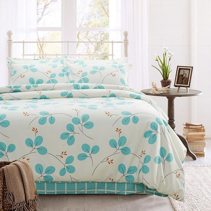 100% cotton twill reactive printing bedding quilt bed sheets pillowcase bedding set(China (Mainland))