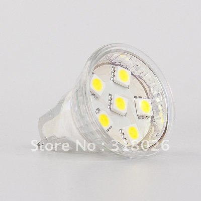 MR11 LED Bulb 6 SMD 12VDC Commercial Engineering Indoor Professional Sailing Dimmable with dimmer(Hong Kong)