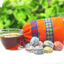 50pcs different Kinds flavors Chinese yunnan puer tea puer ripe pu er tea bag gift the