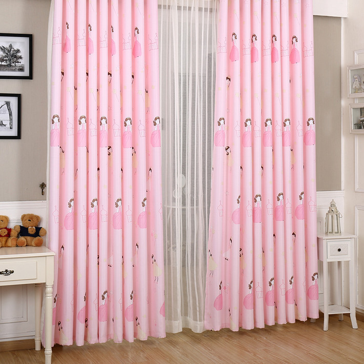 Modern curtain cute pink warm tulle curtains girl princess for Cute curtain ideas for living room