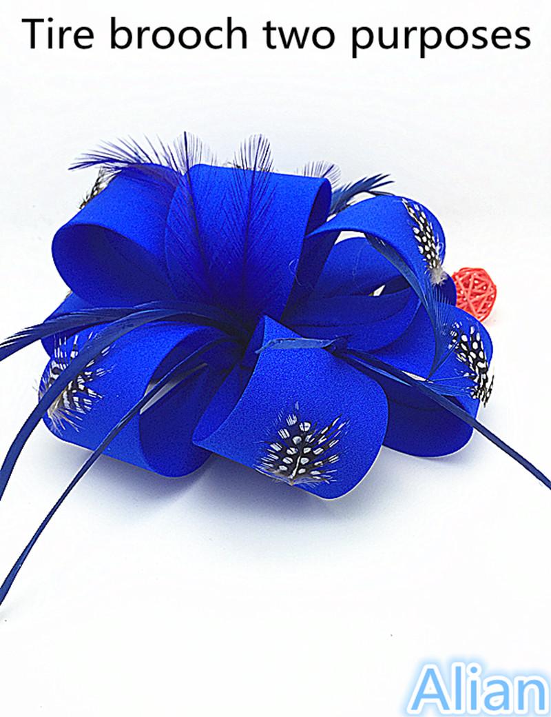 Alian Women Fancy Feather Fascinator Hats Black Birdcage Veil Wedding Hats and Fascinators White Net Hair Accessories Alian128(China (Mainland))
