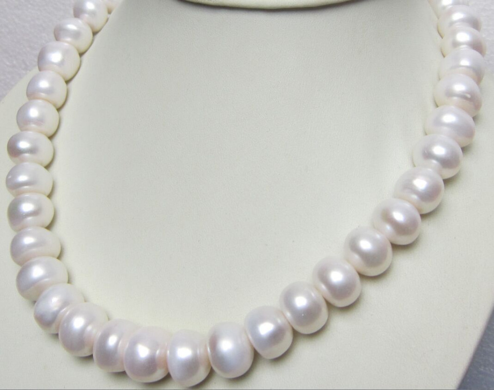 Miss charm Jew899 12-15MM SOUTH SEA GENUINE WHITE PEARL NECKLACE <br><br>Aliexpress