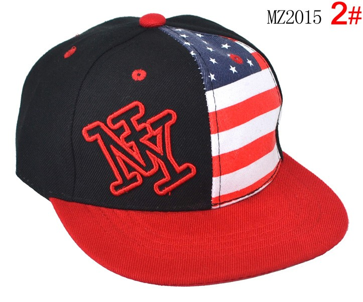 Розничная унисекс дети письмо йорк вышивка национальный флаг печатных бейсболки Kid весна осень плоским краев шляпы MZ2015