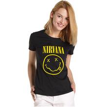 Fashion Women Merry Christmas tshirts Rock Band NIRVANA T shirt personalized custom NIRVANA t-shirt  Free Shipping(China (Mainland))