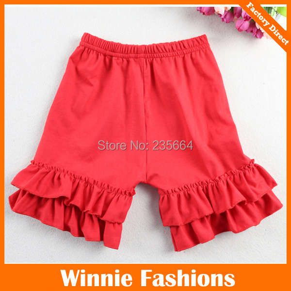 Girl red color ruffle petti shorts 1-8 Years<br><br>Aliexpress