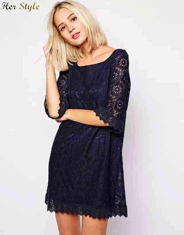 Free Shipping wind early in new flower lace dress 1431011237(China (Mainland))