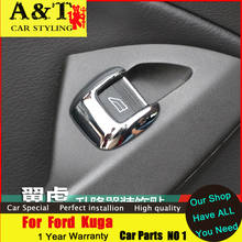 Buy A&T car styling Ford Kuga Escape chrome Window lift switches trim 2013-2015 Kuga Window buttons stickers car special for $8.90 in AliExpress store