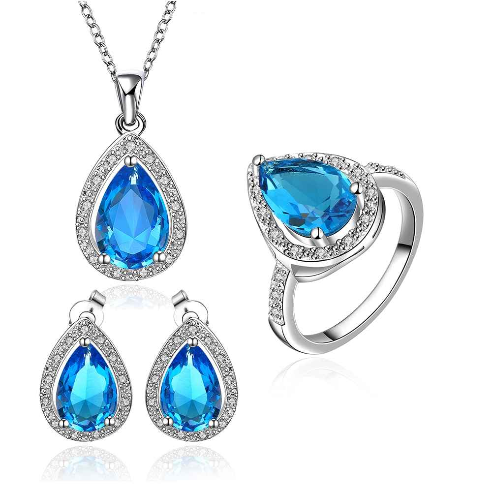Best Friends Platinum Plated african jewelry set sapphire clean love N+E+R Jewellry sets couponFBLS057(China (Mainland))