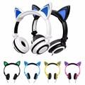 Foldable Flashing Glowing cat ear headphones Gaming Headset mikrafon Earphone with LED light fone de ouvido