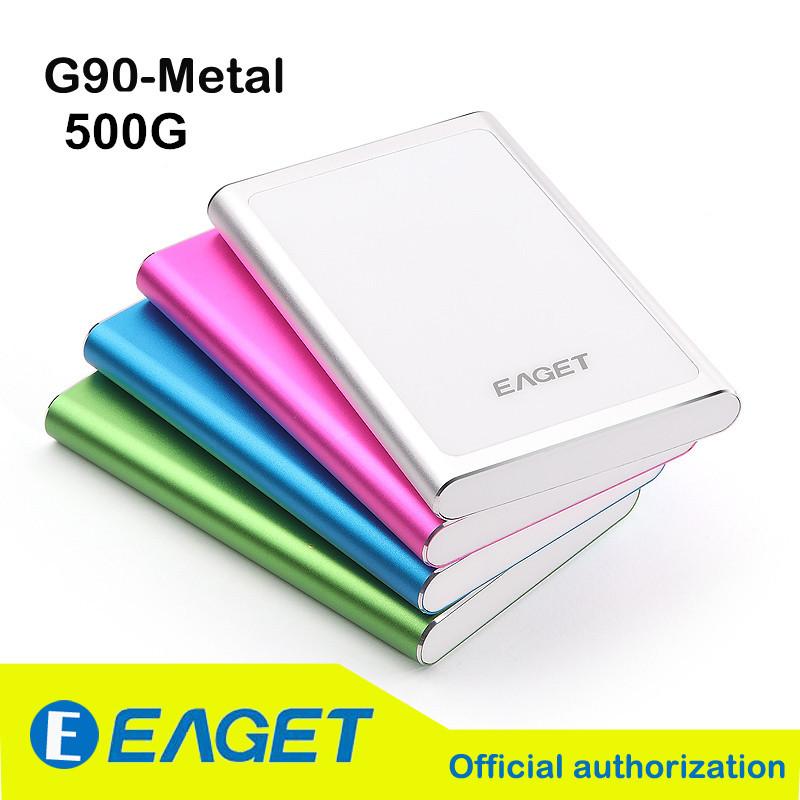 Original EAGET G90 500GB HDD 2.5 Ultra-thin USB 3.0 High Speed External Hard Drives Portable Laptop Shockproof Mobile Hard Disk(China (Mainland))