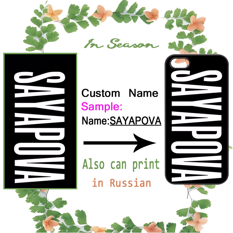 Custom Name Personalized Cover iPhone 4S 5 5S SE 5C 6 6S Plus Samsung Galaxy S3 S4 S5 Mini S6 S7 Edge A3 A5 A7 Note 2 3 4 5