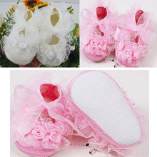 New Cute Non Slip Shoes Baby Toddler Shoes Lace 2Colors First Walkers Princess Girls Dress Shoes