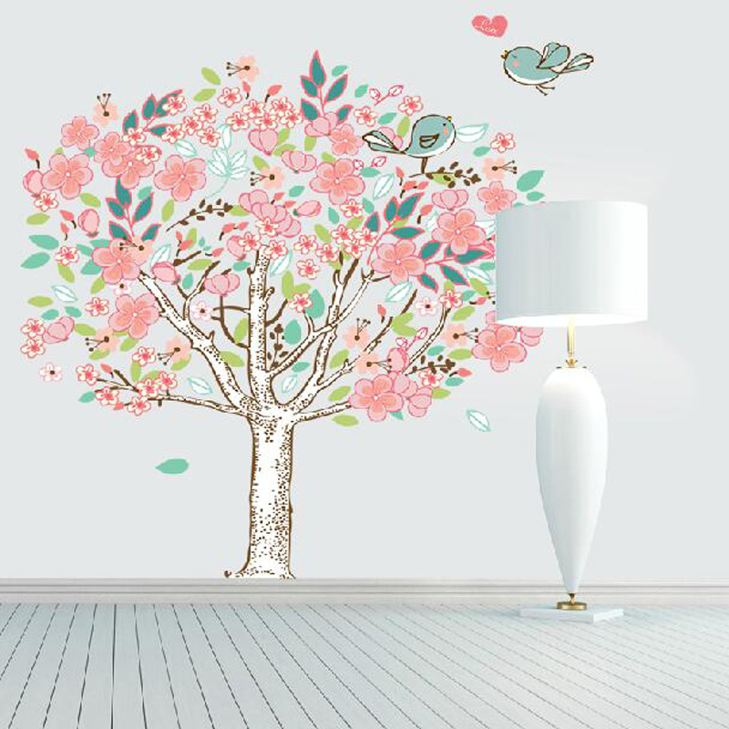Cute Wise Birds Tree Wall Stickers For Kids Room