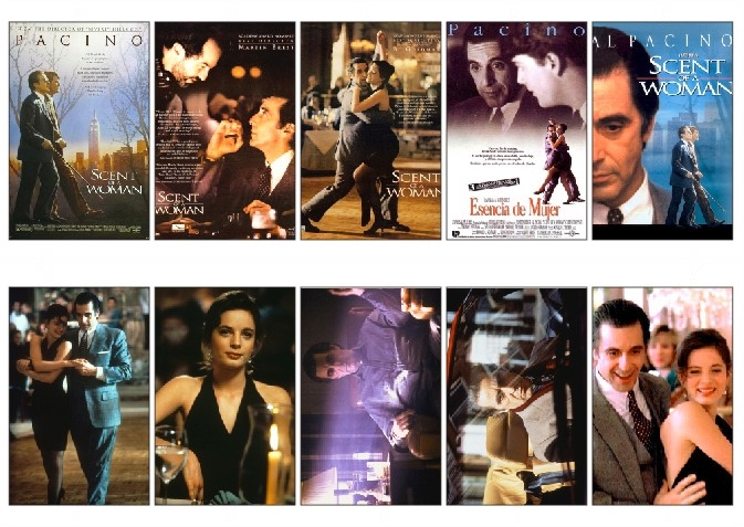 10 pcs/set Scent of a Woman Movie Poster Souvenir Card Sticker DIY Decoration Anti-Dust Bus ID Card Stickers 1158(China (Mainland))