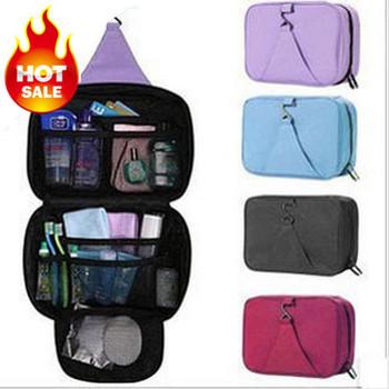 Wholesale!Free Shipping Waterproof Cosmetic Bag Cheap Big Capacity Travel Wash Bag Hanging Toiletry Kit 4 Color Make Up Bag