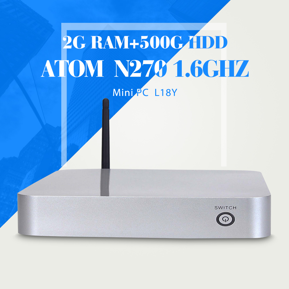 XCY N270 N450 2g ram 500G HDD +WIFI multi user network computing terminal notebook computer with wifi mini pc thin client(China (Mainland))