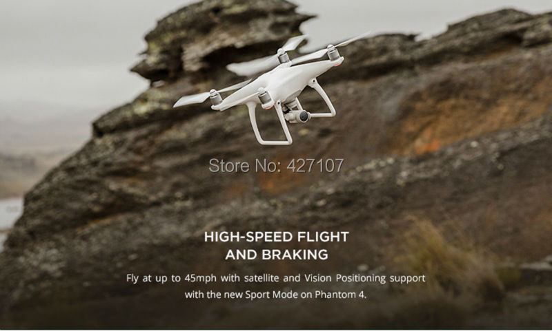 Free Shipping DJI Phantom 4 RC Quadcopter W/Extra Two Battery + DJI Charging Hub + More Gifts Via EMS