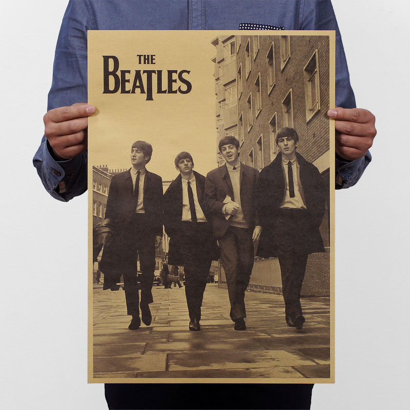 The Beatles Paper Paint Classic Poster Living Room Art Crafts Home Decor for bar/cafe/Pub/Restaurant LRHB005(China (Mainland))
