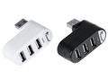 Rotatable High Speed 3 Ports USB HUB 2 0 USB Splitter Adapter for Notebook Tablet Computer
