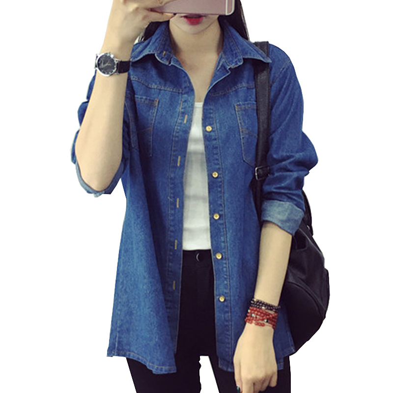 Ladies denim jacket 2016 New Arrival Spring Fashion Denim Thin Jacket Vintage Slim Long Sleeve Women jacket One Size 42(China (Mainland))