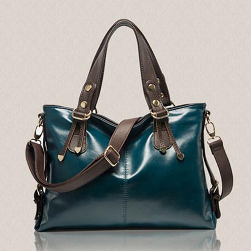 2015 New Genuine Leather women handbags Women Fashion Casual Bag Women Shoulder Messenger Bag Give a