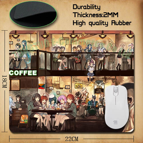 Free shipping 2015 sell Anime Kantai Collection Kancolle Gaming Optical Notebook Mouse Pad cases jsh-pad0041(China (Mainland))