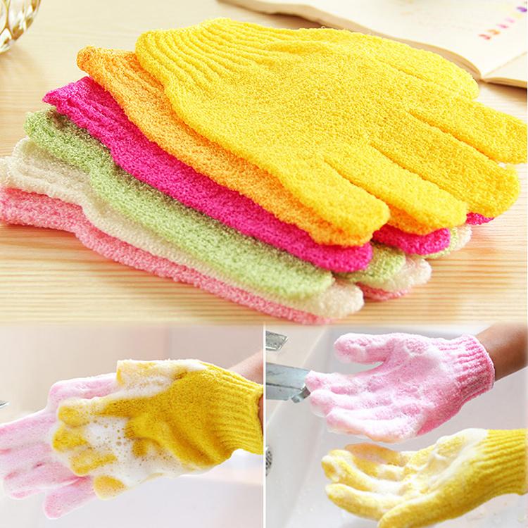 2015 New Arrival Feel good Exfoliating Skid resistance Massage Shower Bath Sponge Gloves(China (Mainland))